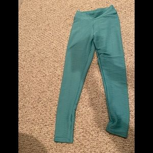 Pants - Teal wave textured leggings  with scrunched butt